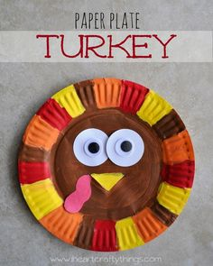 "Thanksgiving Kids Craft for Kids | Make a Paper Plate Turkey | Goes perfectly with book ""A Plump and Perky Turkey"" 