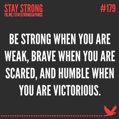 Brave words