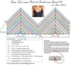 Fabulous Crochet a Little Black Crochet Dress Ideas. Georgeous Crochet a Little Black Crochet Dress Ideas. Crochet Bikini Pattern, Crochet Halter Tops, Crochet Bikini Top, Crochet Patterns, Crochet Stitches, Crochet Diagram, Bra Pattern, Crochet Edgings, Cross Stitches