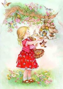 By artist Lisi Martin, a Spanish artist and illustrator famous for her highly detailed and romanticized pictures of children. Lisi was born in Barcelona, Catalonia in Sarah Kay, Vintage Cards, Vintage Postcards, Picture Postcards, Spanish Artists, Holly Hobbie, Cute Illustration, Vintage Pictures, Vintage Children