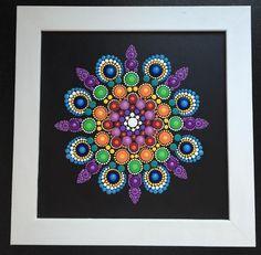 Matted Mandala Painting on Black...