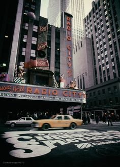 Radio City photography,original art print Music Hall photo Christmas picture Manhattan wall art New York artwork Yellow Cab print décor film by KaleidoscopesPHOTO2 on Etsy