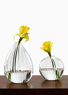 Ribbed Line Glass Bud Vases Set of 2 -- For more information, visit image link.-It is an affiliate link to Amazon. #Vases