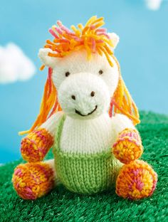 Free Knitting Pattern for Harriet the Horse Toy - This horse softieis designedbySachiyo Ishii. The file needs to be unzipped after download.