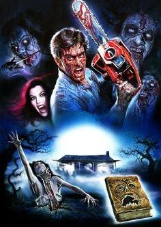 """thedeaditeslayer: """"The Evil Dead by Enzo Sciotti """" Best Horror Movies, Horror Movie Characters, Classic Horror Movies, Horror Show, Scary Movies, Horror Icons, Horror Movie Posters, Movie Poster Art, Films Quotes"""