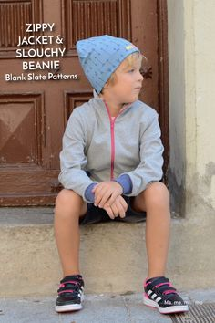 Zippy Jacket sewing pattern by Blank Slate Patterns sewn by Mamemimo Kids Patterns, Pdf Sewing Patterns, Knitting Patterns, Hat Patterns, Knitted Hats, Crochet Hats, My Baby Girl, Baby Girls, Kentucky Derby Hats