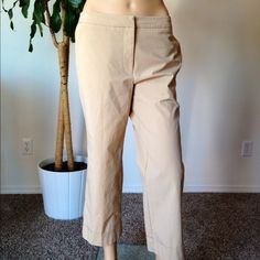 "Pants Nude color pants size 8 regular hips across 16"" and 24"" in length city stretch Pants Capris"