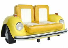 VW Beetle Couch! - Click image to find more Home Decor Pinterest pins