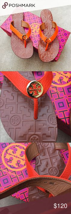 {Tory Burch} Poppy Red Thora Sandals Brand new in box, never been worn. Please be familiar/know your own Tory Burch sizing, these don't come in half size.   ❌ NO TRADES - SELLING ON POSH ONLY ❌ ❌ NO LOWBALLING ❌  ✅ Bundle Discounts ✅ Ship Next Day of Purchase  💯 % AUTHENTIC Tory Burch Shoes Sandals