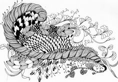Zentangle. I love these, but never have the patience or dedication. Or my pen runs out of ink and I give up.