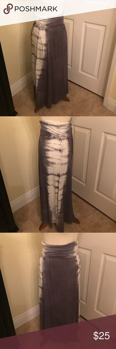 Lounging long Skirt Tye dyed gray and white long lounging skirt. Soft material. New Skirts Maxi