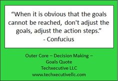 Decision Making Quotes, Outer Core, Making Goals, Goal Quotes, Coaching, Training