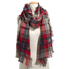 Madewell-Openweave Scarf - BRIGHT BERRY