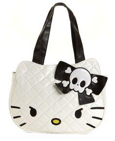 Hello Kitty Handbag, Mega Kitty Face Tote in Mad Kitty
