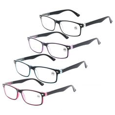 d42a9f2d7a4 Spring Hinges Reading Glasses Classic Mens Womens Readers Rectangular  +1.0~+3.5