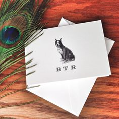 New to VeronicaFoleyDesign on Etsy: Boston Terrier Personalized Stationery great gift for dog lovers monogrammed stationery custom stationery set 100% Cotton Savoy (18.00 USD)
