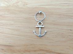 Anchor Captive Bead Hoop Cartilage Earring by LostAtSeaJewelry, $10.00