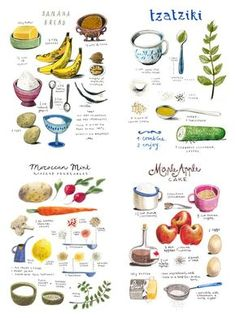What recipe, watercolor food, watercolor illustration, sketch notes Mezze, Recipe Drawing, Watercolor Food, Watercolor Illustration, Digital Illustration, What Recipe, Food Drawing, Drawing Art, Food Journal