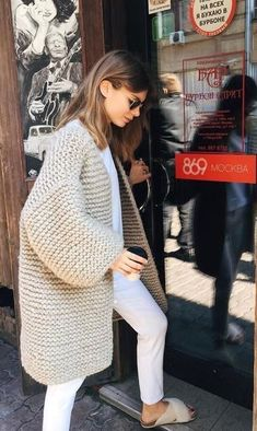 Search for chunky cardigan at ASOS. Shop from over styles, including chunky cardigan. Knitwear Fashion, Knit Fashion, Look Fashion, Winter Fashion, Fashion Outfits, Fashion 2017, Knit Cardigan Outfit, Mens Chunky Knit Cardigan, Chunky Sweater Outfit