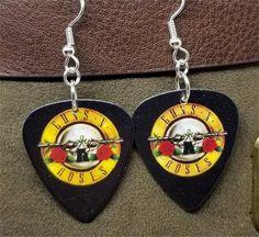 Guns n Roses Logo Guitar Pick Earrings