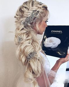 Special Occasion Hairstyles for 2020 10 Special event Hairstyles Meant for Long Curly Hair Undercut Hairstyles, Braided Hairstyles, Wedding Hairstyles, Hairstyle Braid, Braided Ponytail, Hair Updo, Long Curly Hair, Curly Hair Styles, Braid Styles For Men