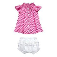 Amazon.com: Masala Baby Girls Newborn Country Gingham 2 Piece Set with Gift Box: Clothing