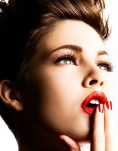 #red #lips #beauty #inspiration
