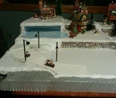 Dept-56-Village-Display-Platform-Lemax-CIC-Dickens-snow-village-NP-CAVERN-HILLS