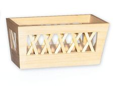 Unfinished Wooden Basket  Planter  Flower Box   by byAnnoDomini, $16.95