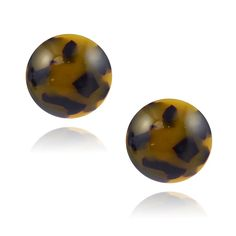 Lorren Bell Round Stud Earrings, 28mm Button Post False Tortoise Shell, Antique Goldtone Hair Ornaments, Tortoise Shell, Swarovski Crystals, Jewelry Making, Perfume, Stud Earrings, This Or That Questions, Button, Antiques