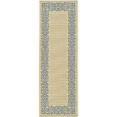 Shop for Safavieh Indoor/ Outdoor Ocean Natural/ Blue Runner (2'4x 6'7). Free Shipping on orders over $45 at Overstock.com - Your…