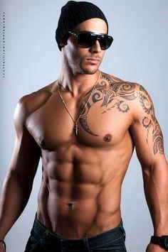 Risultati immagini per male chest tribal tattoos #tattoospolynesiansleeve #samoantattooschest #TattooIdeasMale