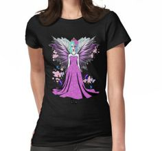 Women's T-Shirt #sugarskull #queen #fairy #fairytale #imagination #mythical #mystical #horror #art #sexy #wings