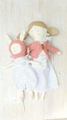 Rag Doll Dress up Doll Handmade doll Unique doll by MiniwerkaToys