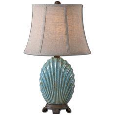 Uttermost Seashell Blue Buffet Lamp 29321