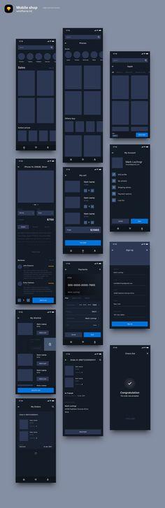 1301 Best Wireframe images in 2019 | Interface design, UI Design