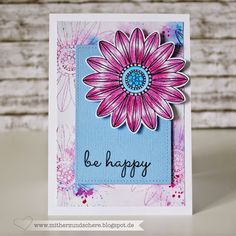 Karte mit Blumen von Create a smile, Flower, Birthday-Card
