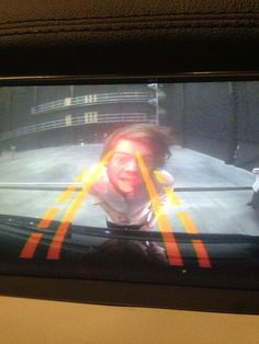 Niall Horan -  I was reversing and this appeared on the screen