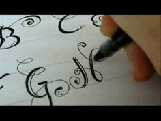 Fancy letters how to design your own swirled letters via youtube