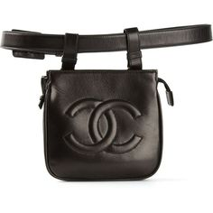 CHANEL VINTAGE belt bag ($1,405) ❤ liked on Polyvore featuring bags, belts, chanel, accessories, handbags and filler