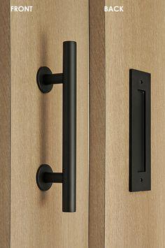 New Black Iron Entry Door Hardware