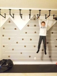 Monkey Bars Indoor Indoor Climbing Rock Wall Kids Playroom