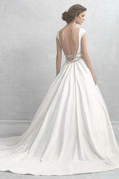 Open back wedding dress.