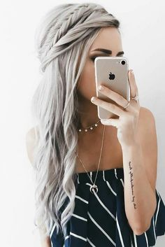 Top Braided Hairstyles By Emily Rose Crown ❤️ Style your long Rapunzel hair with our elegant side braid ideas. Here you will find inspiration for your next braid, including crown and French braids. Box Braids Hairstyles, Quick Hairstyles, Wedding Hairstyles, Hairstyle Ideas, Hairstyles Haircuts, Half Braided Hairstyles, Teenage Hairstyles, Hairstyles Pictures, Hair Ideas