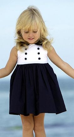 Little girls' nautical dresses were popular when I was a child, and remain a popular choice for better childrenswear buyers shopping the spring/summer 2013 Baby CZ by Carolina Zapf collection. Baby Outfits, Girls Summer Outfits, Toddler Boy Outfits, Little Girl Outfits, Toddler Girl, Kids Outfits, Cute Outfits, Baby Girl Fashion, Toddler Fashion