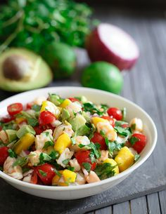Shrimp-avocado-mango-lime-salad-1FIFTY Whole30 Compliant Recipes for Your New Year!