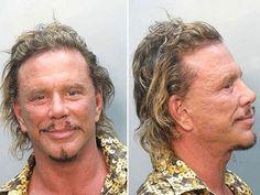 Celebrity Mug Shots Mickey Rourke