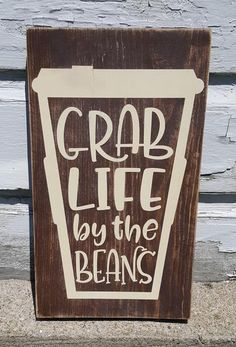 "This rustic 7"" x 12"" wooden sign is a humorous way to get motivated and start your day! Stained background with cream design. Distressed/weathered finish. Custom orders are welcome! All items I have for sale are crafted by hand, rather than mass produced as you would find in a store. Because of this, your piece may slightly vary from photos shown. My wood signs are often made from reclaimed wood and pallets. They will vary slightly from photos shown since no two pieces of wood ..."