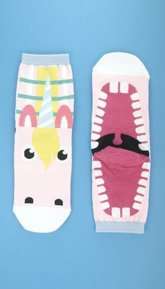 unicorn Funny Socks, Cute Socks, Matching Socks, Crazy Socks, Kids Socks, Designer Socks, Ankle Socks, Hosiery, Kawaii