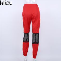 Size Waist Width Hip Width Pant Length S / 24 in / 38 in / 39 in M / 25 in / 39 in / 39 in L / 27 in / 41 in / 40 in Closure Type: Zipper Fly Fabric Type: Knitted Length: Full Length Fit Type: Loose Material: Polyester Pant Style: Straight Waist Type: Mid Fashion Pants, Diy Clothes, Parachute Pants, Capri, Sweatpants, Zipper, Fitness, Closure, Type